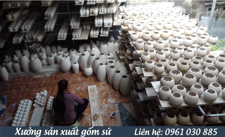 sản xuất gốm sứ theo yêu cầu